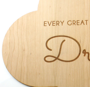 Laser Cut and Engraved Wooden Sign